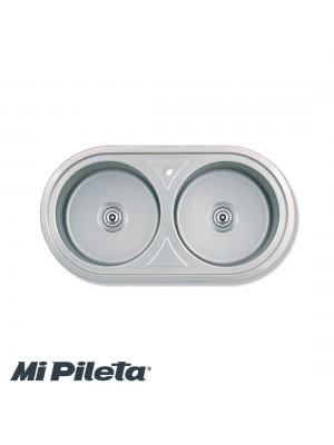 Pileta 461E Doble 86x43x20 Mi Pileta
